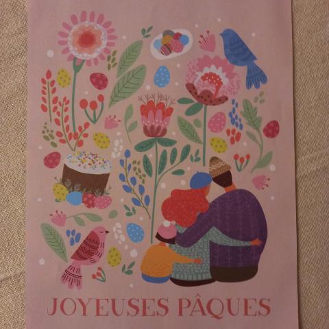 """troc de  Affiche """"Joyeuses Pâques""""., sur mytroc"""