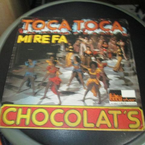 troc de  vinyle 45 tours  Chocolat's toca toca mirefa 3 noisettes, sur mytroc