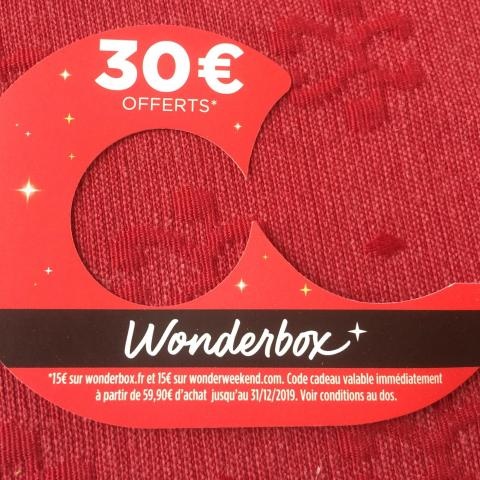 troc de  Code de réduction sur wonderbox.fr et wonderweekend.com, sur mytroc