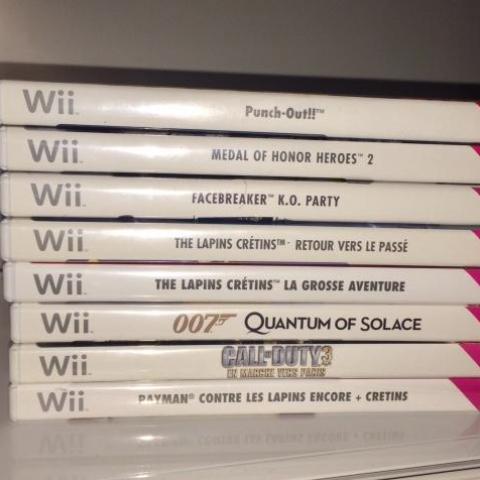 troc de  Nombreux jeux Nintendo Wii – parfait état ( à échanger contre blurays ou jeux PS4 de ma liste de recherche ), sur mytroc
