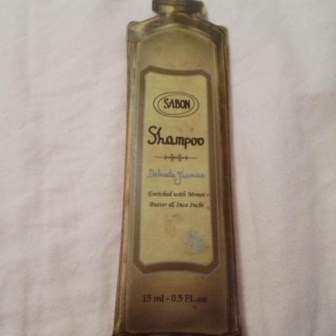 """troc de  * Échantillon Sabon de 15 ml de shampoing """"Delicate Jasmine"""", sur mytroc"""