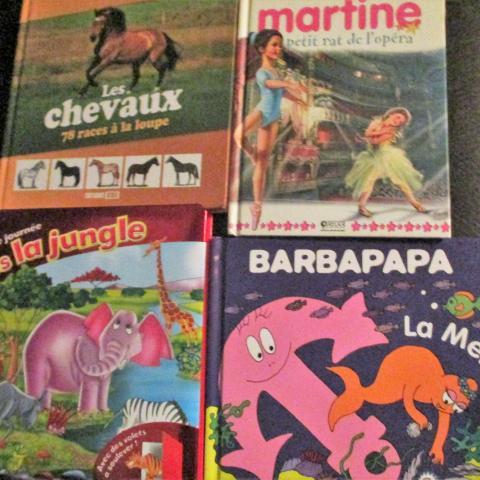 troc de  4 livres chevaux barbapapa martin animaux, sur mytroc