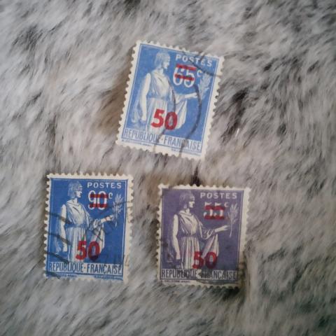 troc de  Lot timbres type paix surchargés en rouge, sur mytroc