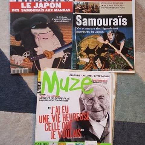 troc de  Lot de magazines / histoire du Japon, samouraïs / Muze, sur mytroc