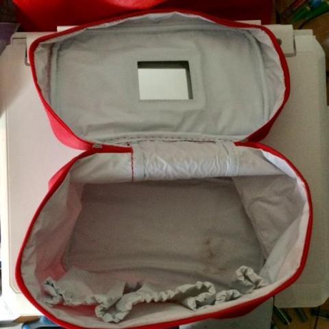 troc de  Sac vanity trousse de toilette - rouge, sur mytroc