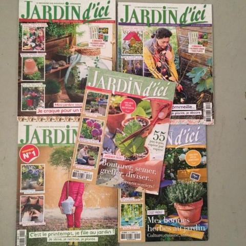 3 lots de magazines de jardinage neufs