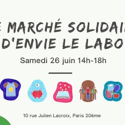 Troc party au Marché Solidaire chez Envie Le Labo