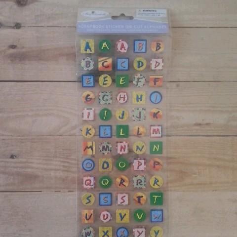 troc de  Stickers autocollants alphabet, sur mytroc