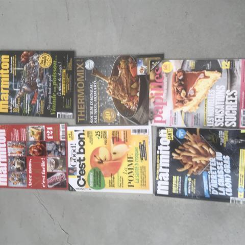 Lot de 6 magazines de cuisine