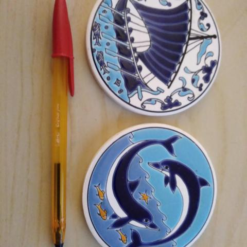 troc de  Résa calinou 02 / 2 petits dessous de plat céramique, sur mytroc