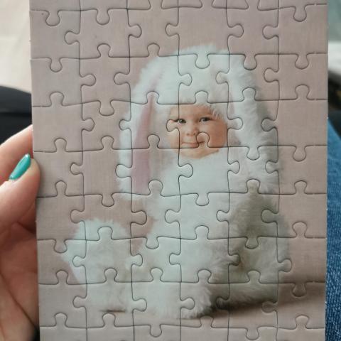 troc de  Petit cadre puzzle bébé, sur mytroc