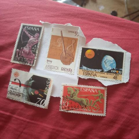 troc de  Réservé Lot timbre Espagne, sur mytroc