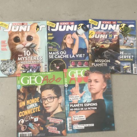 Lot de 5 magazines pour Ados