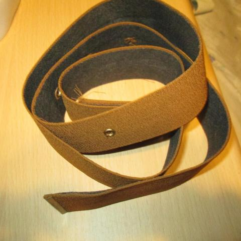 troc de  ceinture  marron ocre 110 cm  3 noisettes, sur mytroc