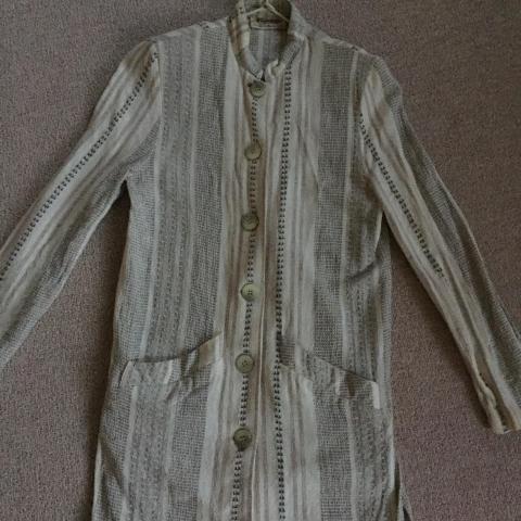 troc de  veste longue coton imprimé type lin - taille S, sur mytroc
