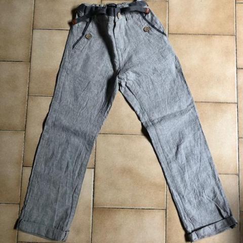 troc de  Pantalon lin gris 7 ans, sur mytroc