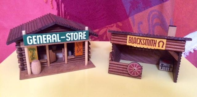 troc de troc vintage: jouet bois village farwest image 1