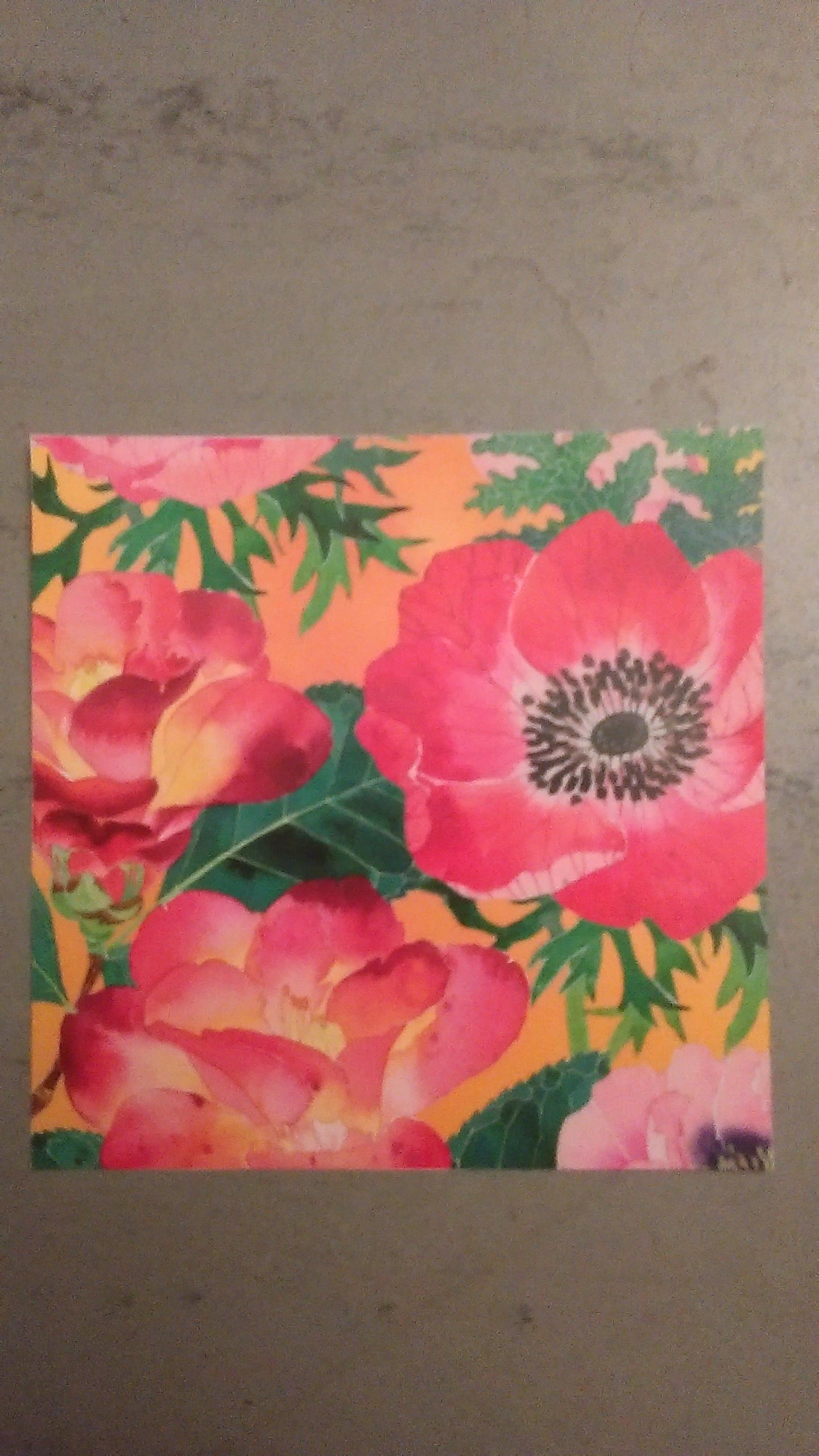 """troc de troc carte carrée """"fleurs"""". image 0"""