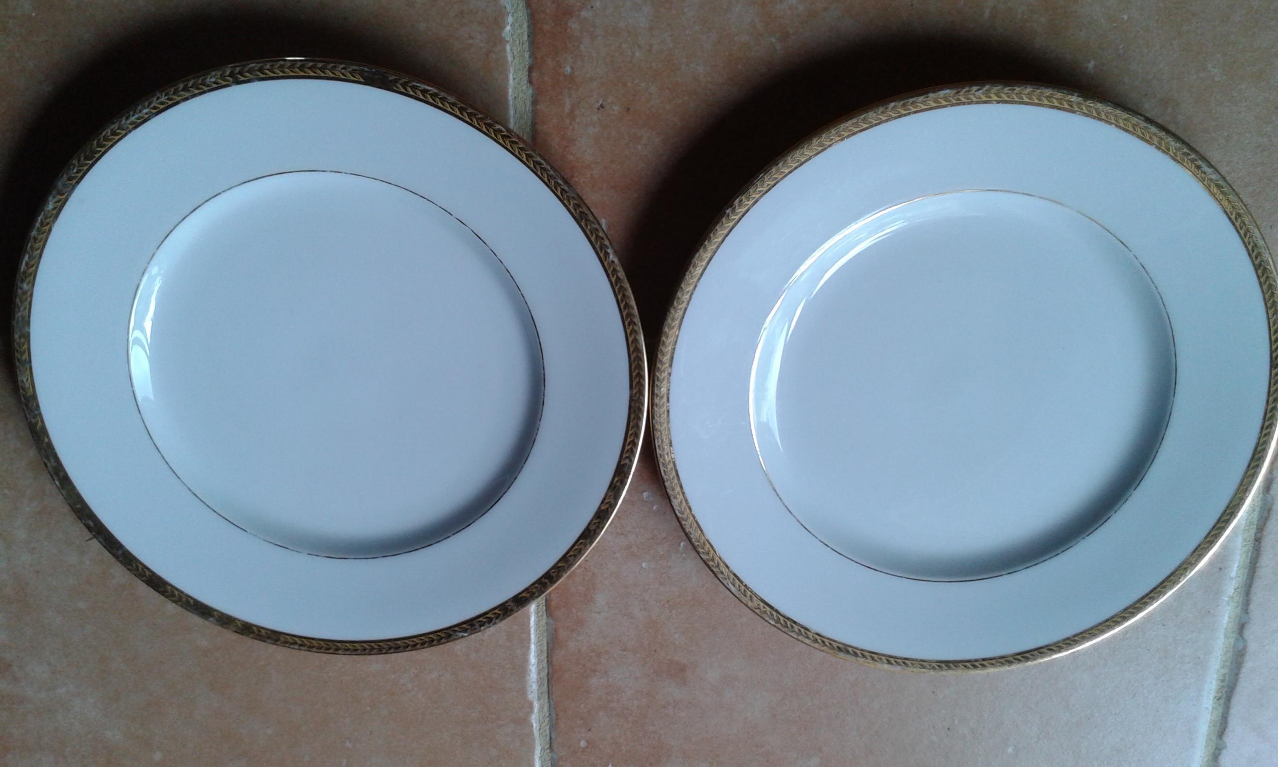 troc de troc lot de 2 assiettes porcelaine de limoges image 0