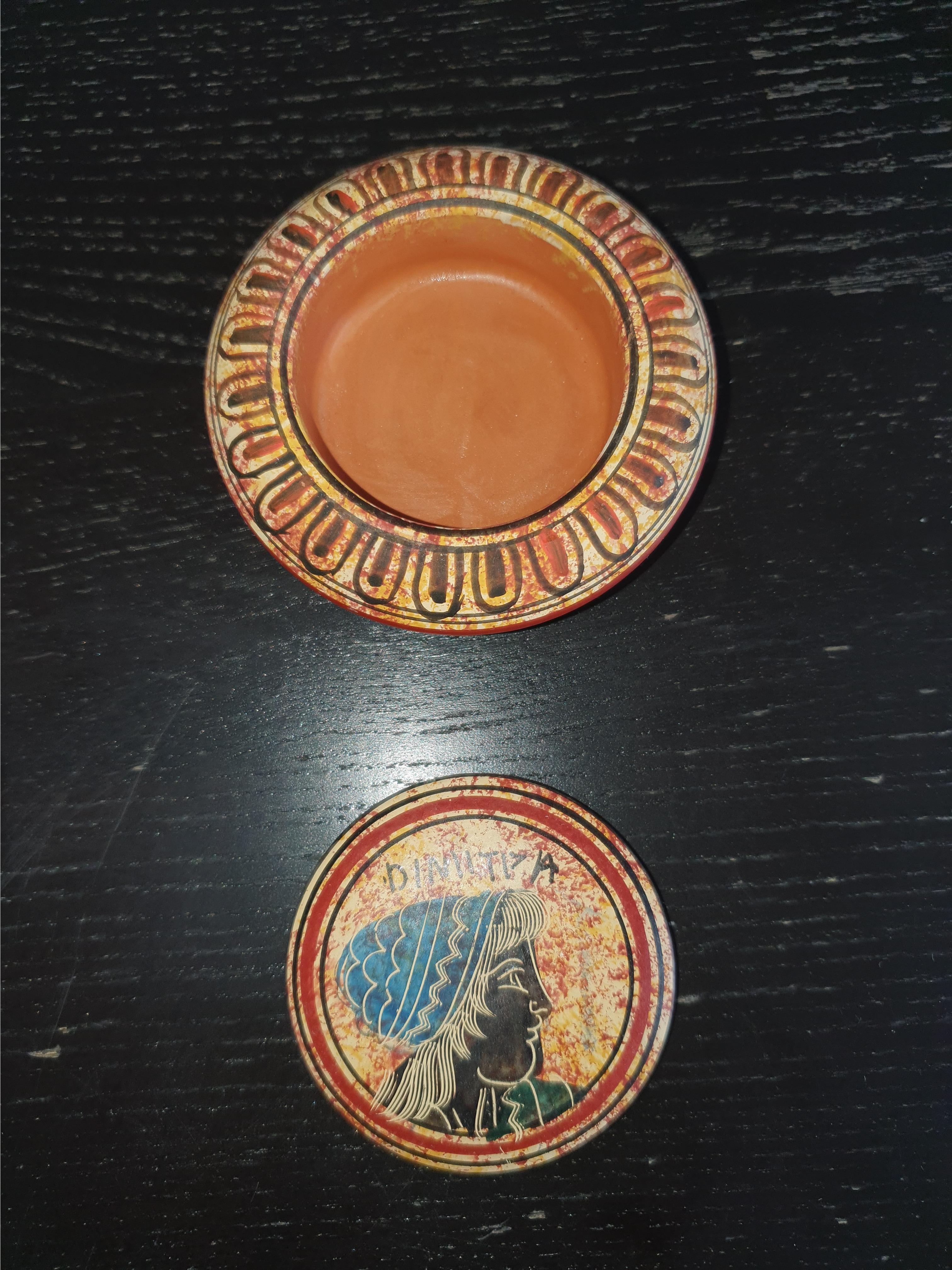 troc de troc petite boite grecque en poterie image 1