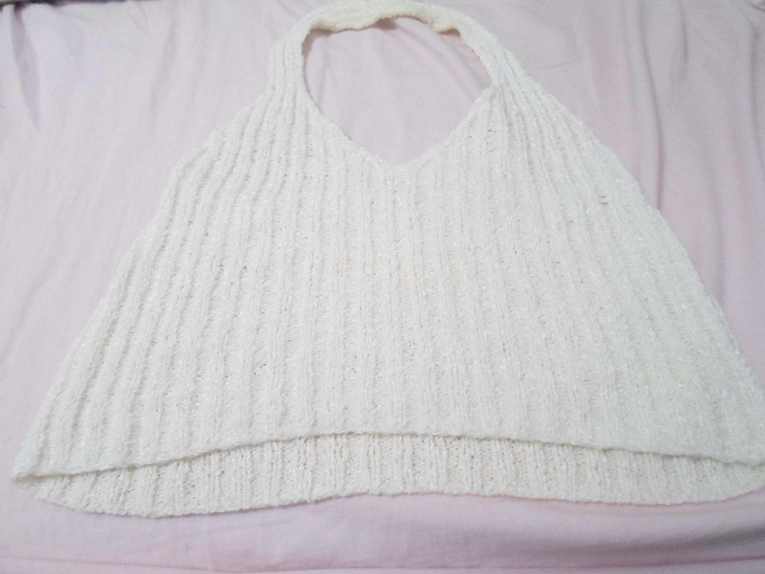 troc de troc haut blanc en laine très court image 0