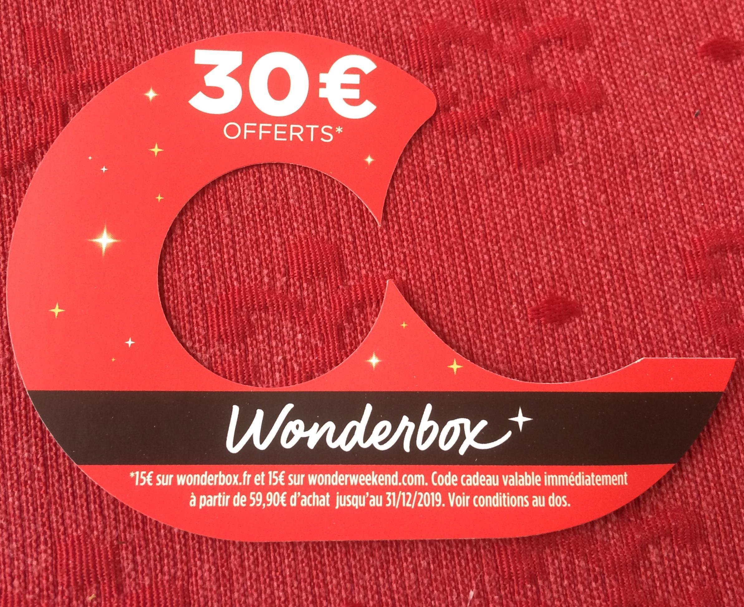 troc de troc code de réduction sur wonderbox.fr et wonderweekend.com image 0