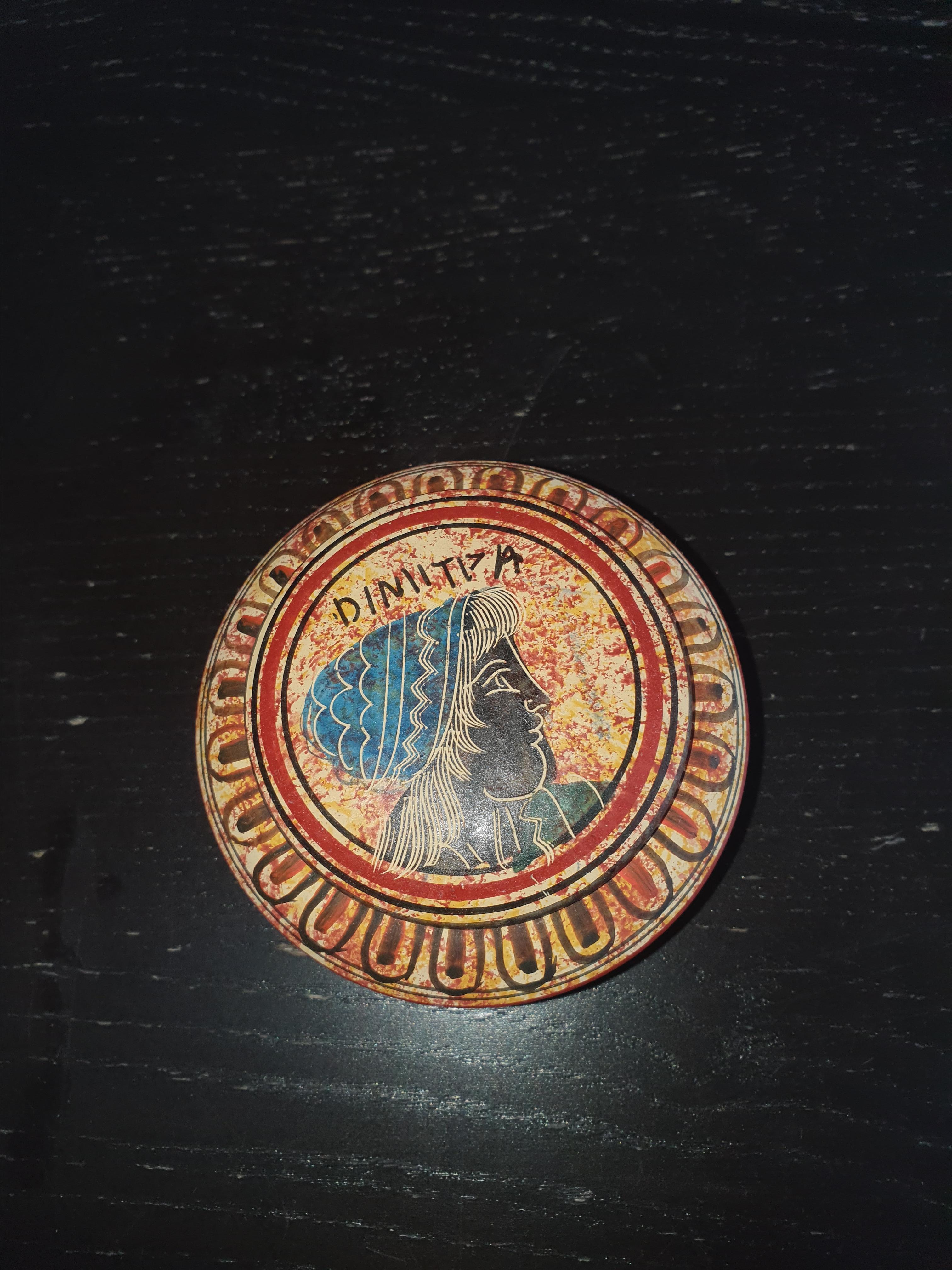 troc de troc petite boite grecque en poterie image 0