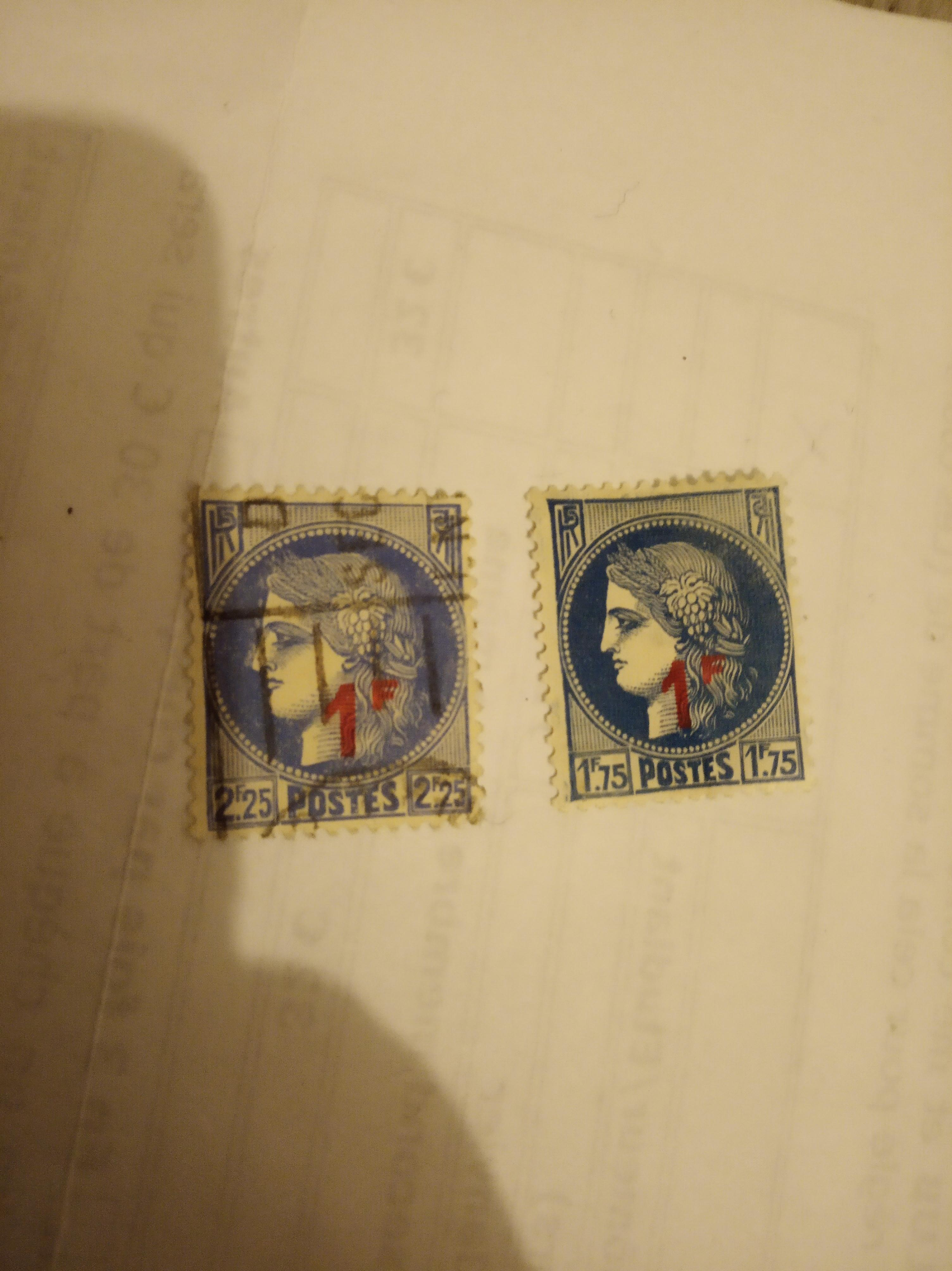 troc de troc réservé lot timbres cérès surtaxé image 0