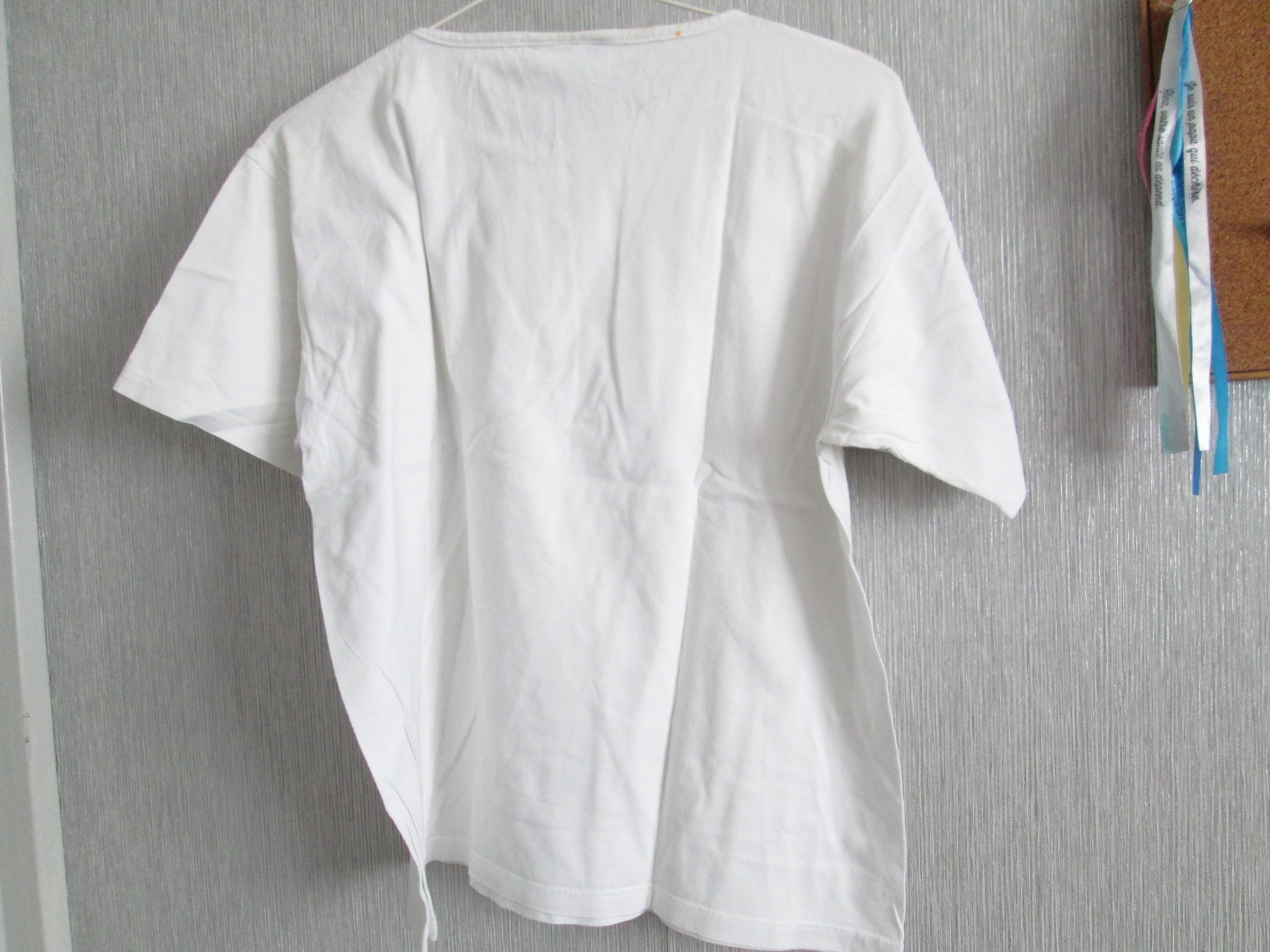troc de troc tee shirt  blanc    balina taille 38 petit dessin 5 noisettes image 1