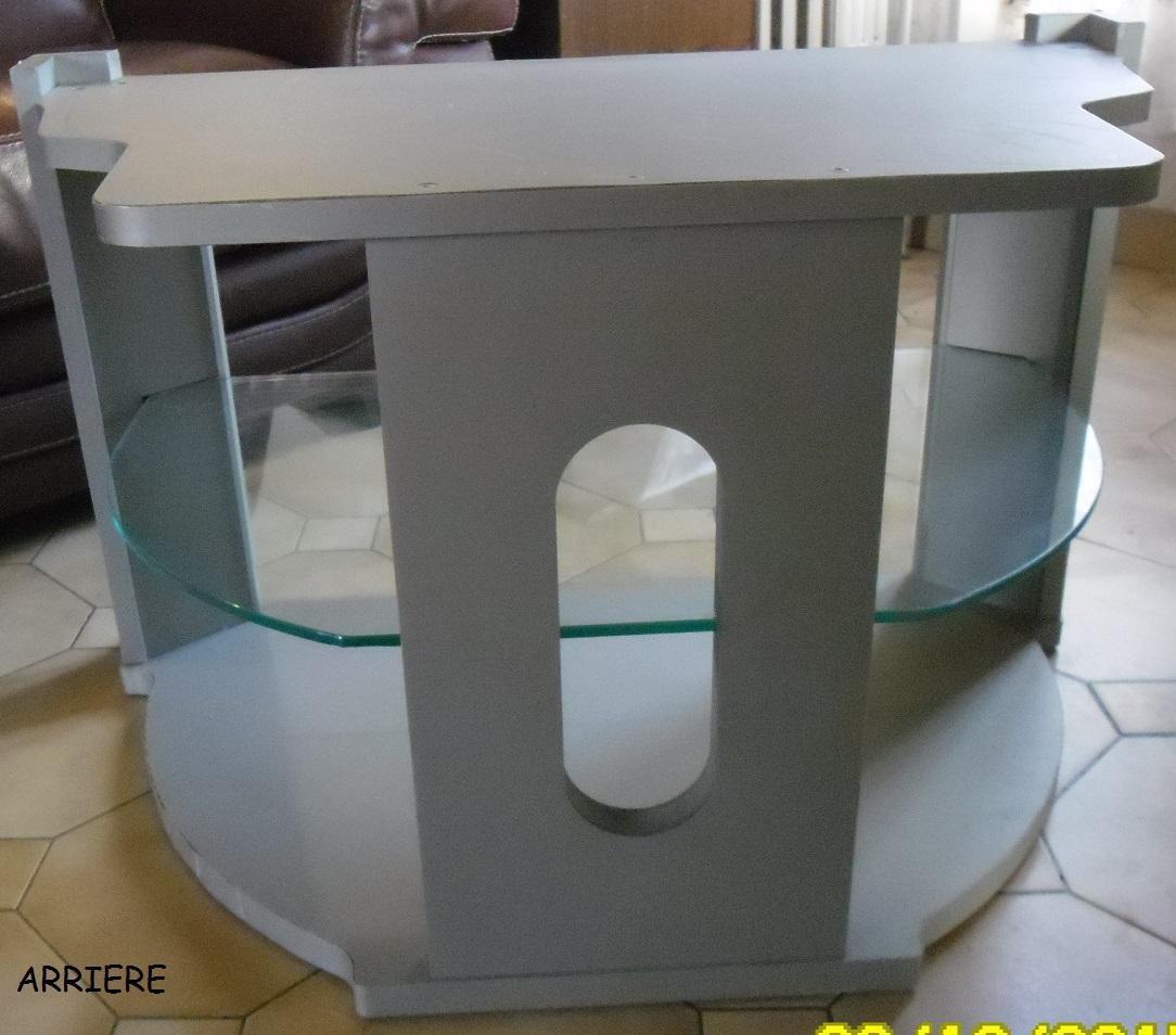 troc de troc meuble télé avec une plaque en verre image 2