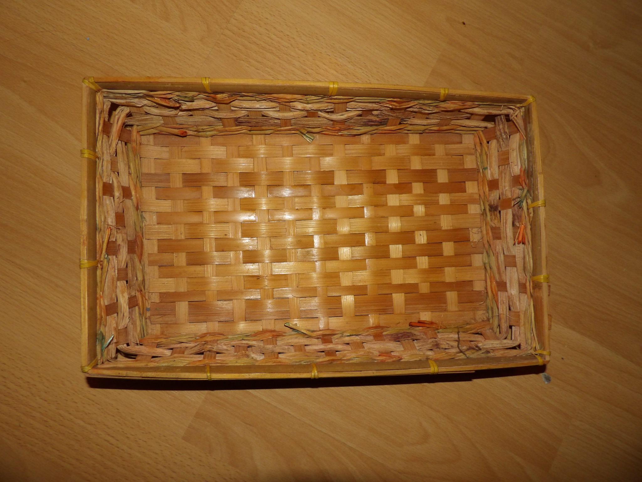 troc de troc corbeille osier rectangle 35 cm environ image 0