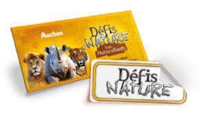 troc de troc cartes auchan / défis nature - 2 noisettes les 5 cartes image 0