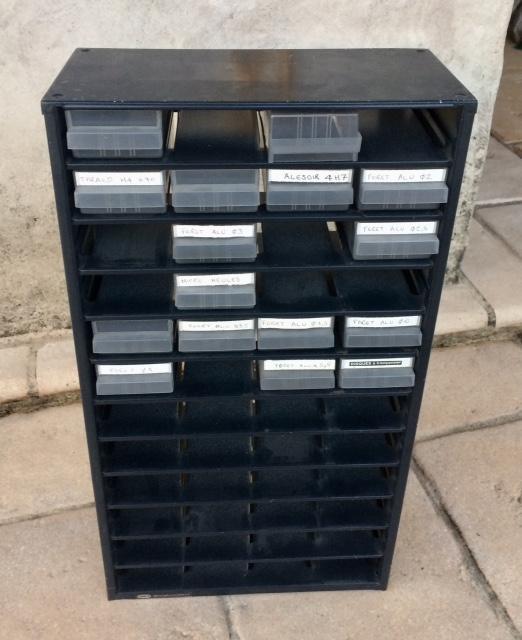 troc de troc boitiers rangement - caisson métallique 48 tiroirs image 2