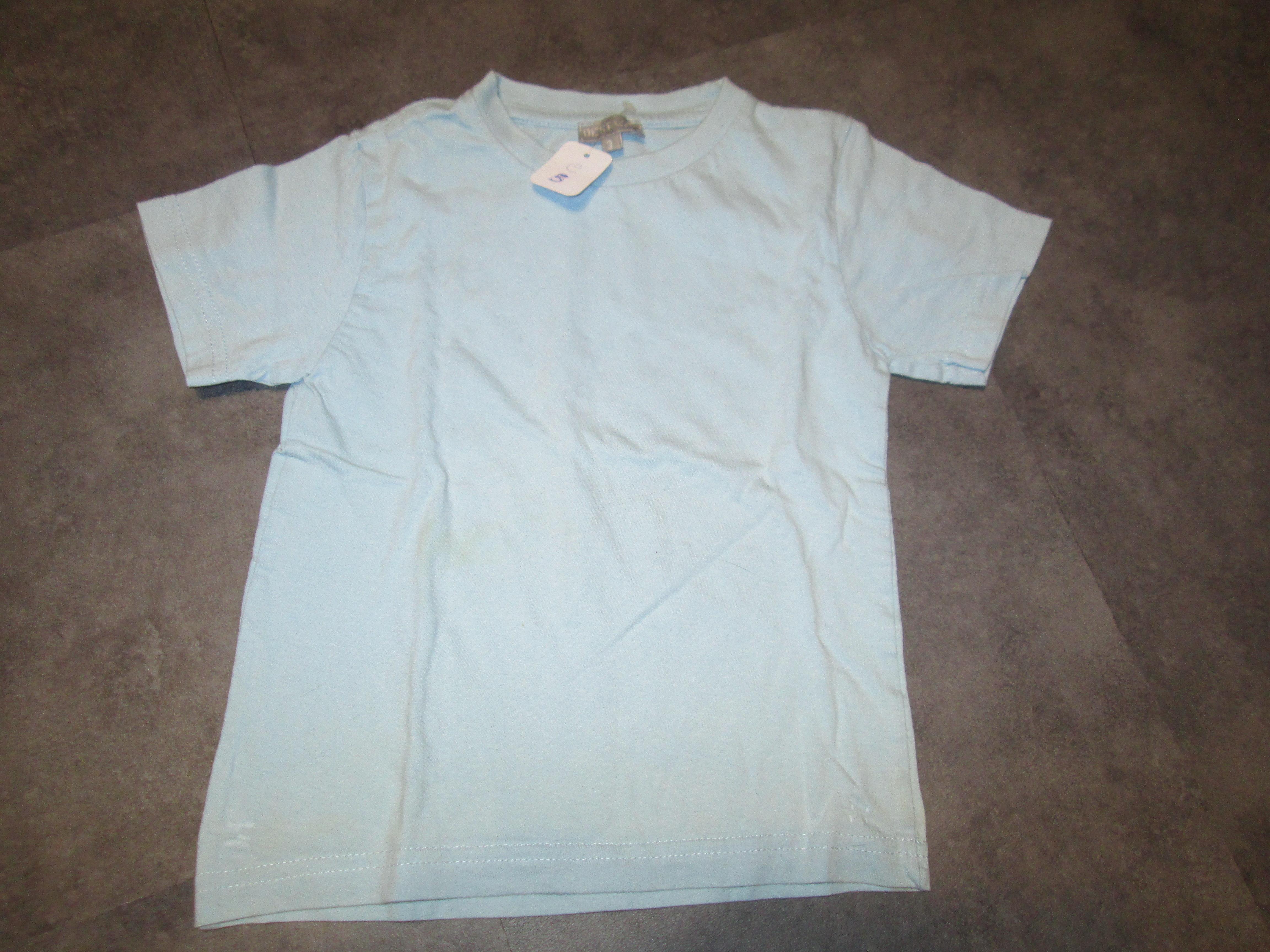 troc de troc tee shirt bleu ciel 3 ans 3 noisettes image 0