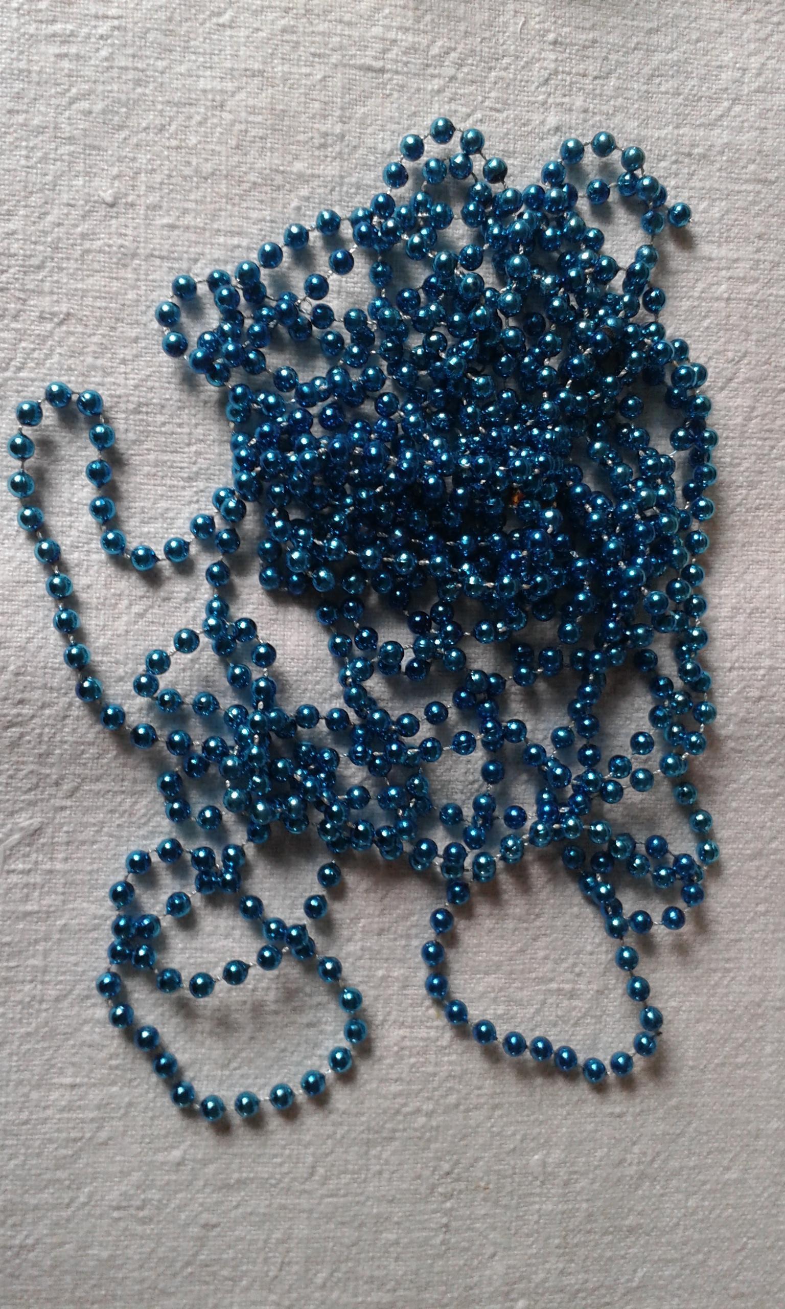 troc de troc reserve *****grande guirlande de perles turquoise image 0