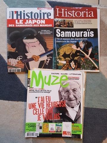 troc de troc lot de magazines / histoire du japon, samouraïs / muze image 0