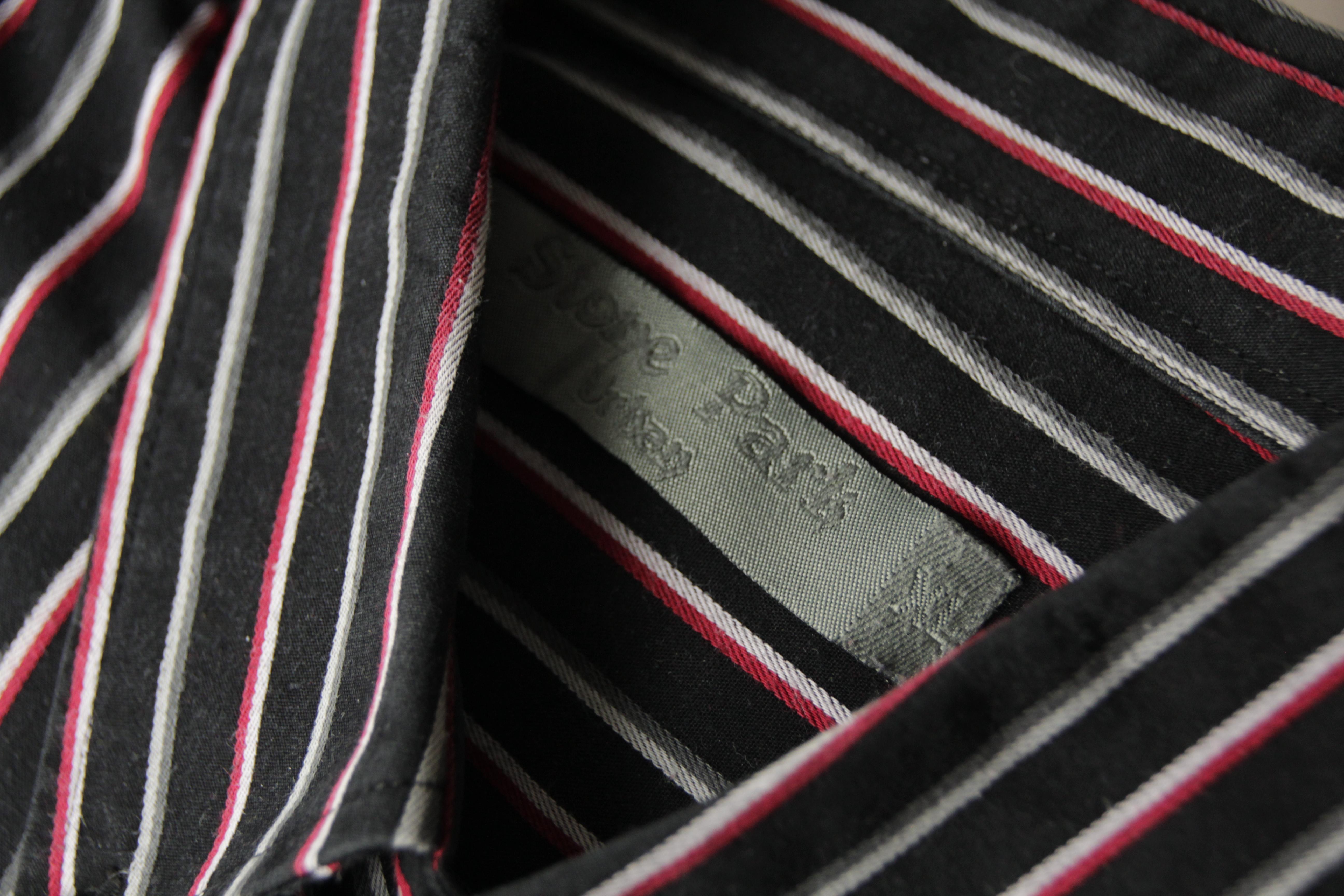 troc de troc chemise noire/grise à rayures blanches/grises/rouges taille xl image 1