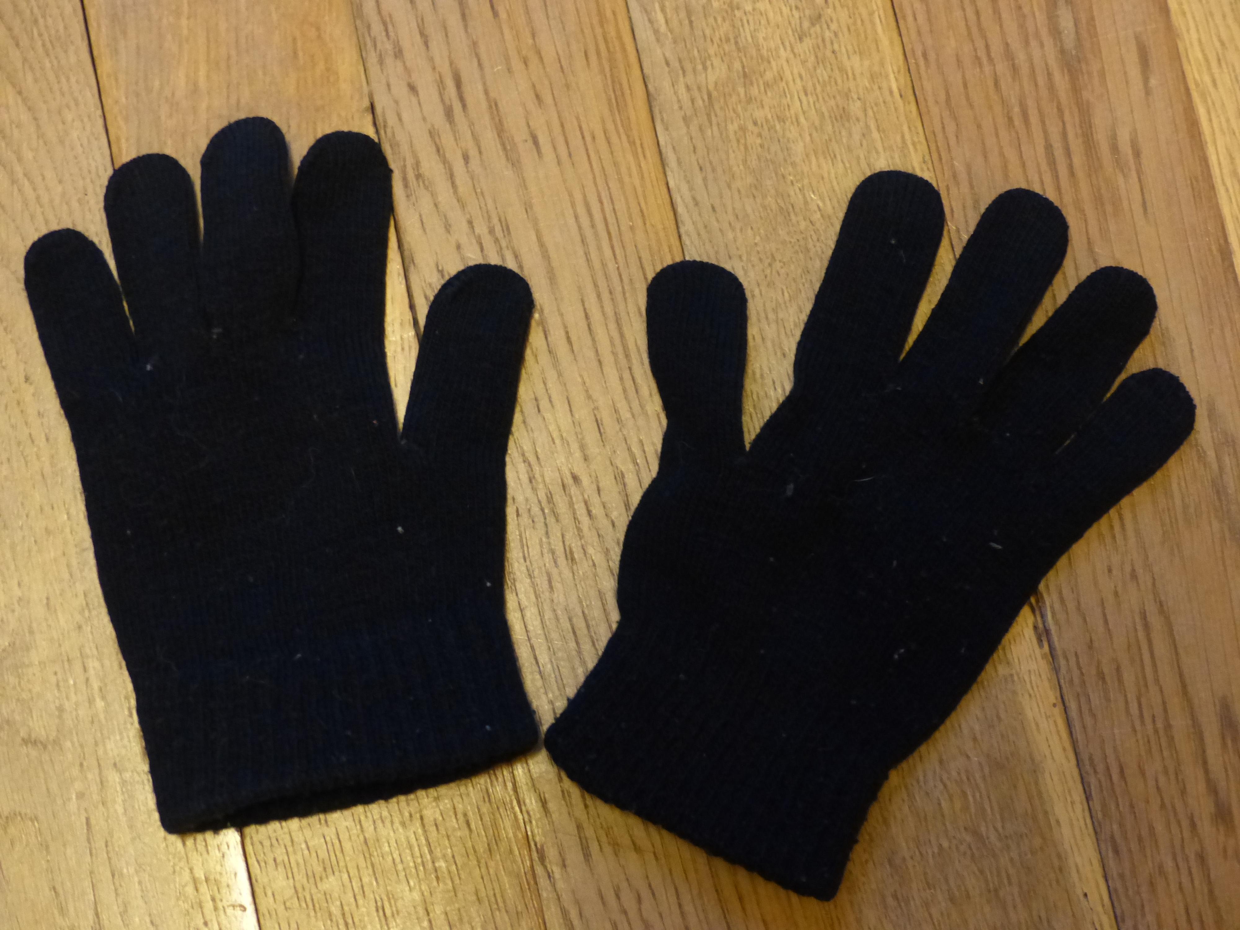 troc de troc paire de gants enfant en noir image 0