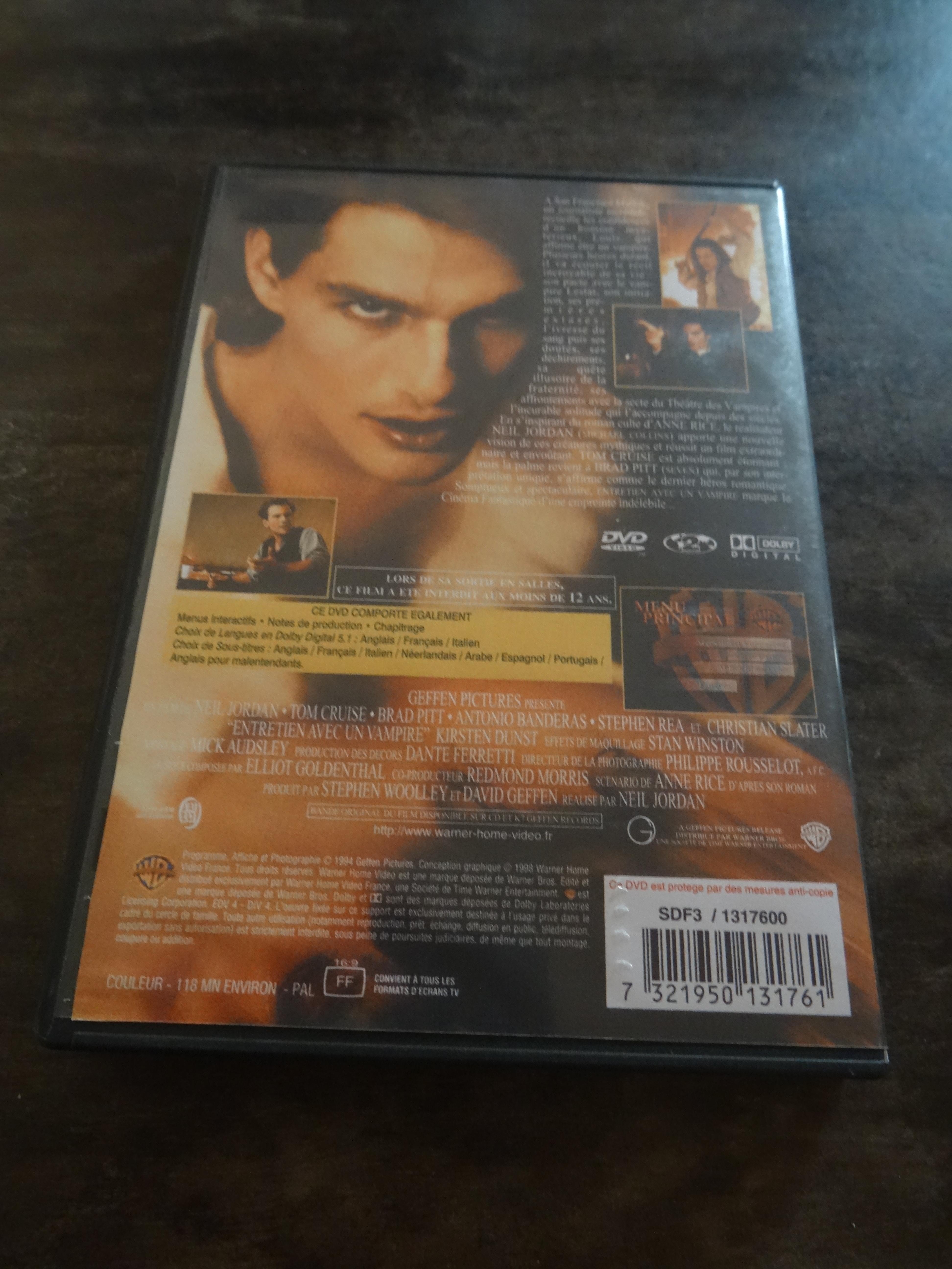 troc de troc dvd gravé - entretien avec un vampire image 1