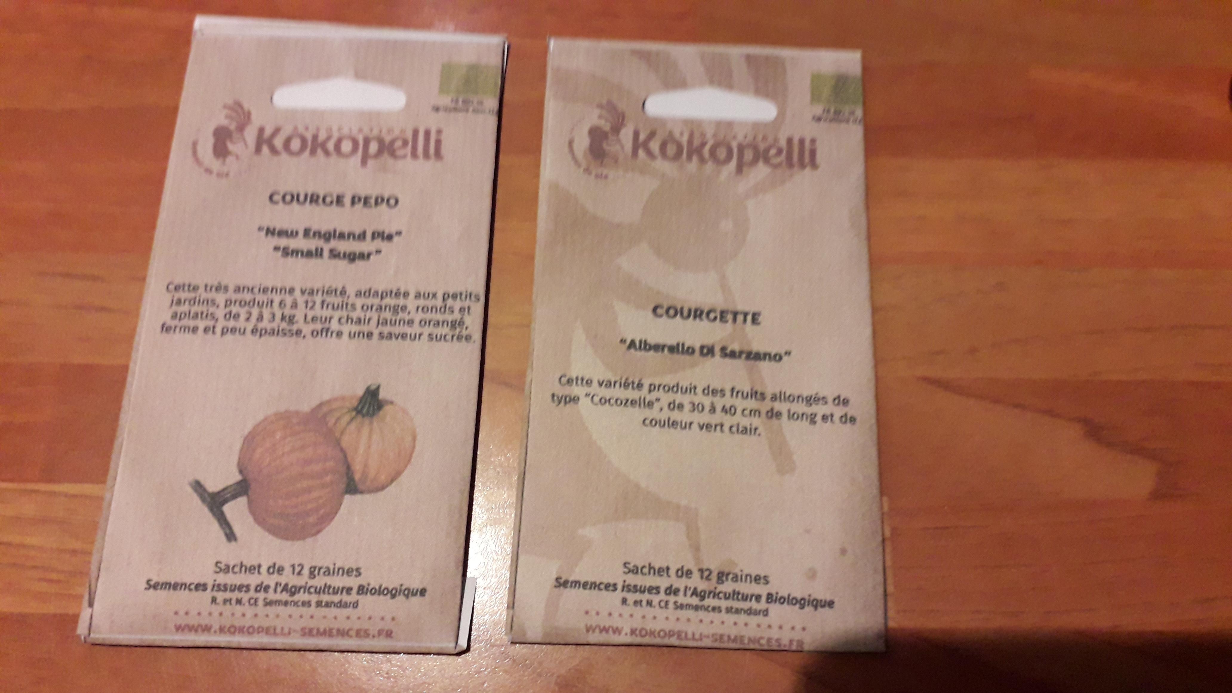 troc de troc graines courgettes et courge new england kokopelli -réservé image 0