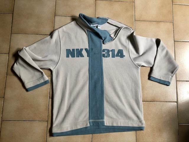 troc de troc tshirt sweat beige bleu 10 ans image 0