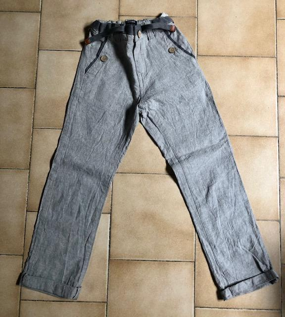 troc de troc pantalon lin gris 7 ans image 0