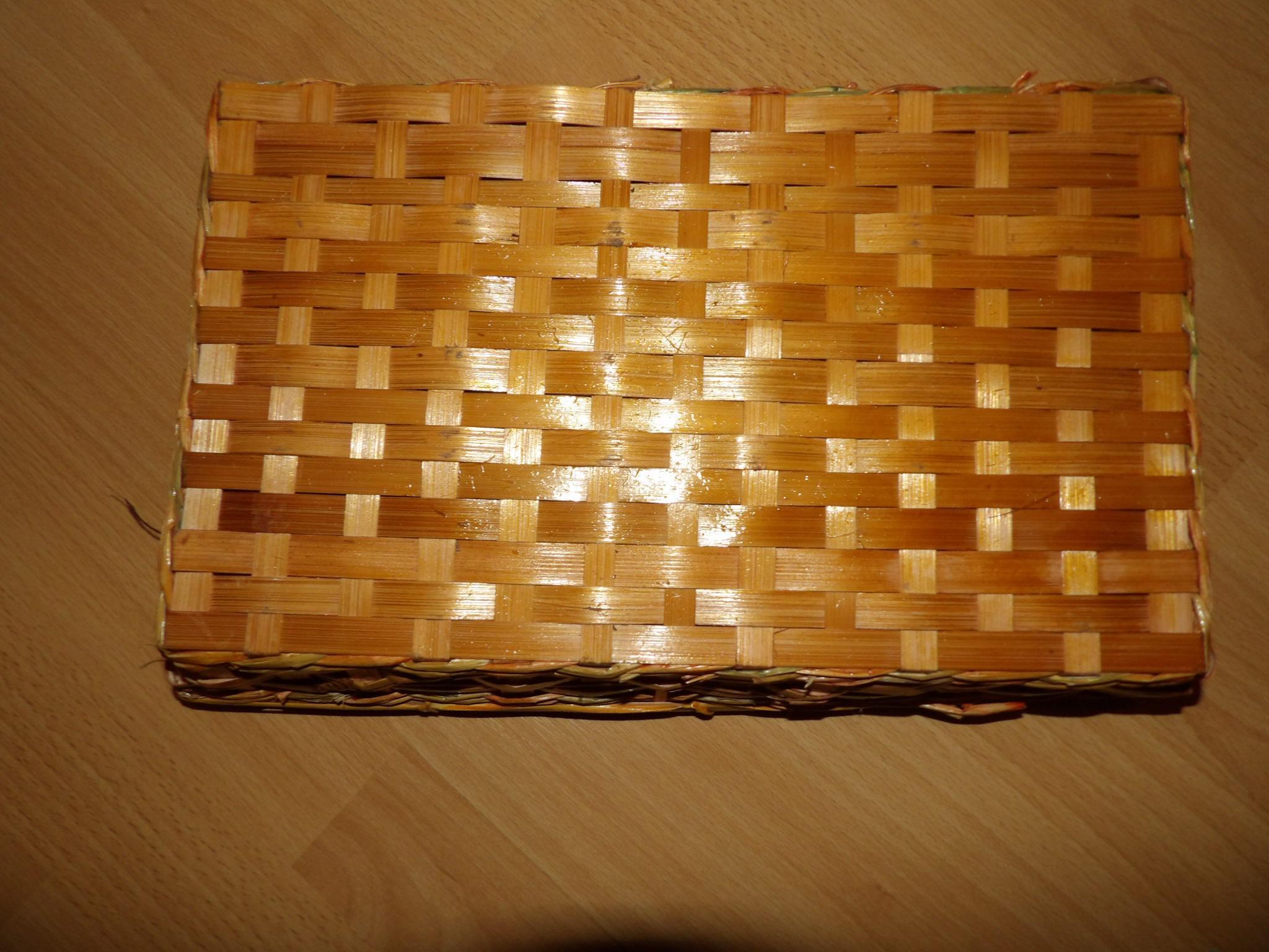 troc de troc corbeille osier rectangle 35 cm environ image 1