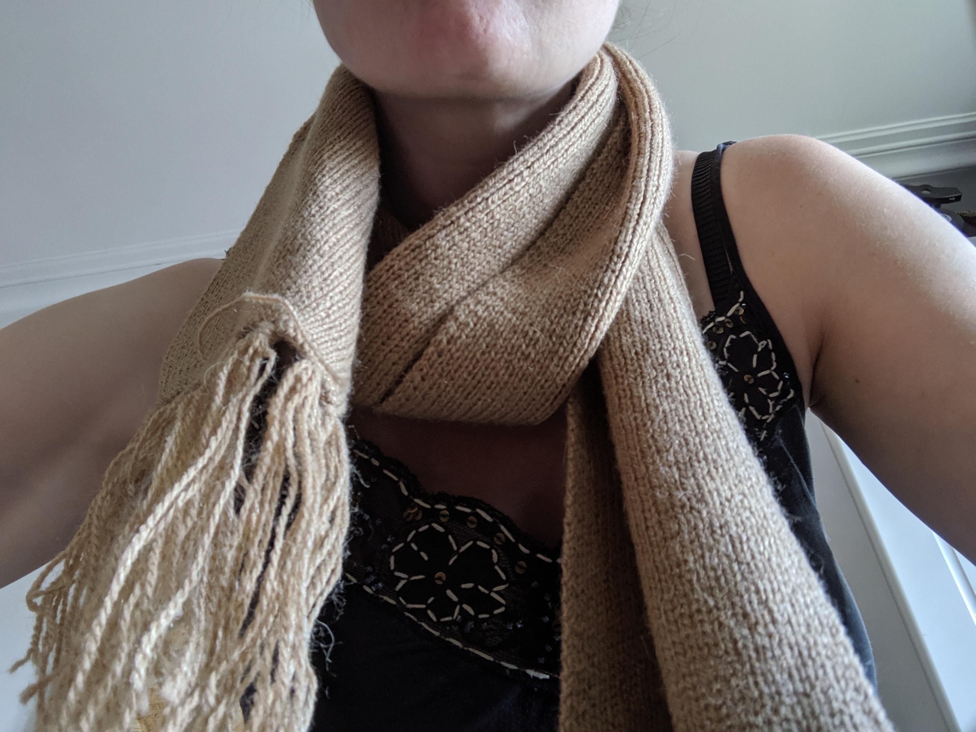 troc de troc Écharpe beige laine image 0