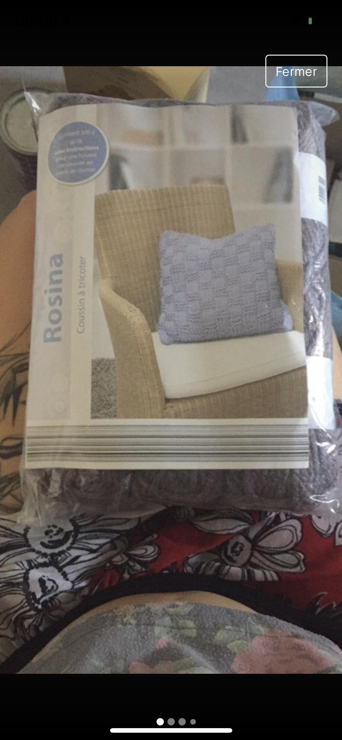 troc de troc *reservé* neuf  joli coussin à tricoter image 0