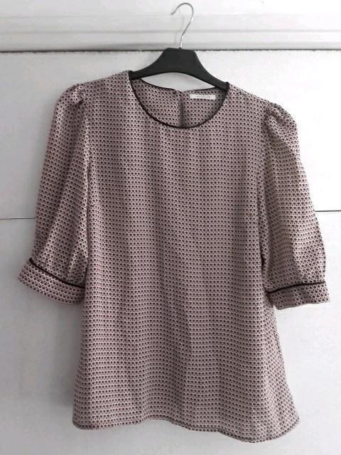 troc de troc blouse à motifs vintage promod image 0
