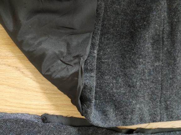 troc de troc chutes de tissu une face type tissu épais effet laine gris image 1