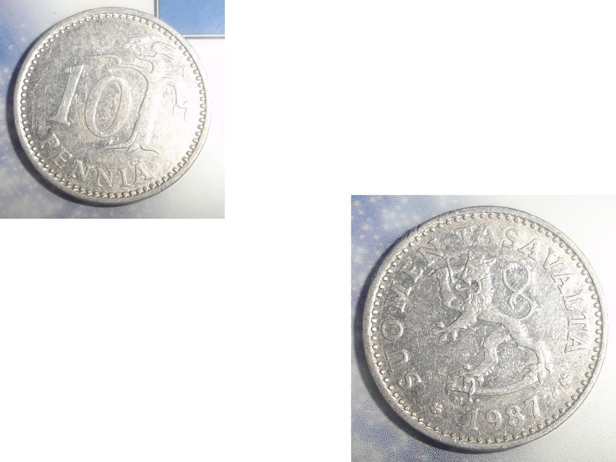 troc de troc 1 monnaie finlande suomen tasavalta 10 penniÄ alu soit 1987 ou 1988 ou 1990 image 0