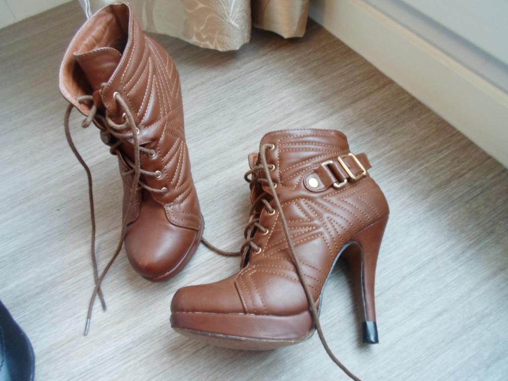 troc de troc * chaussure marron à plateforme taille 37 image 0