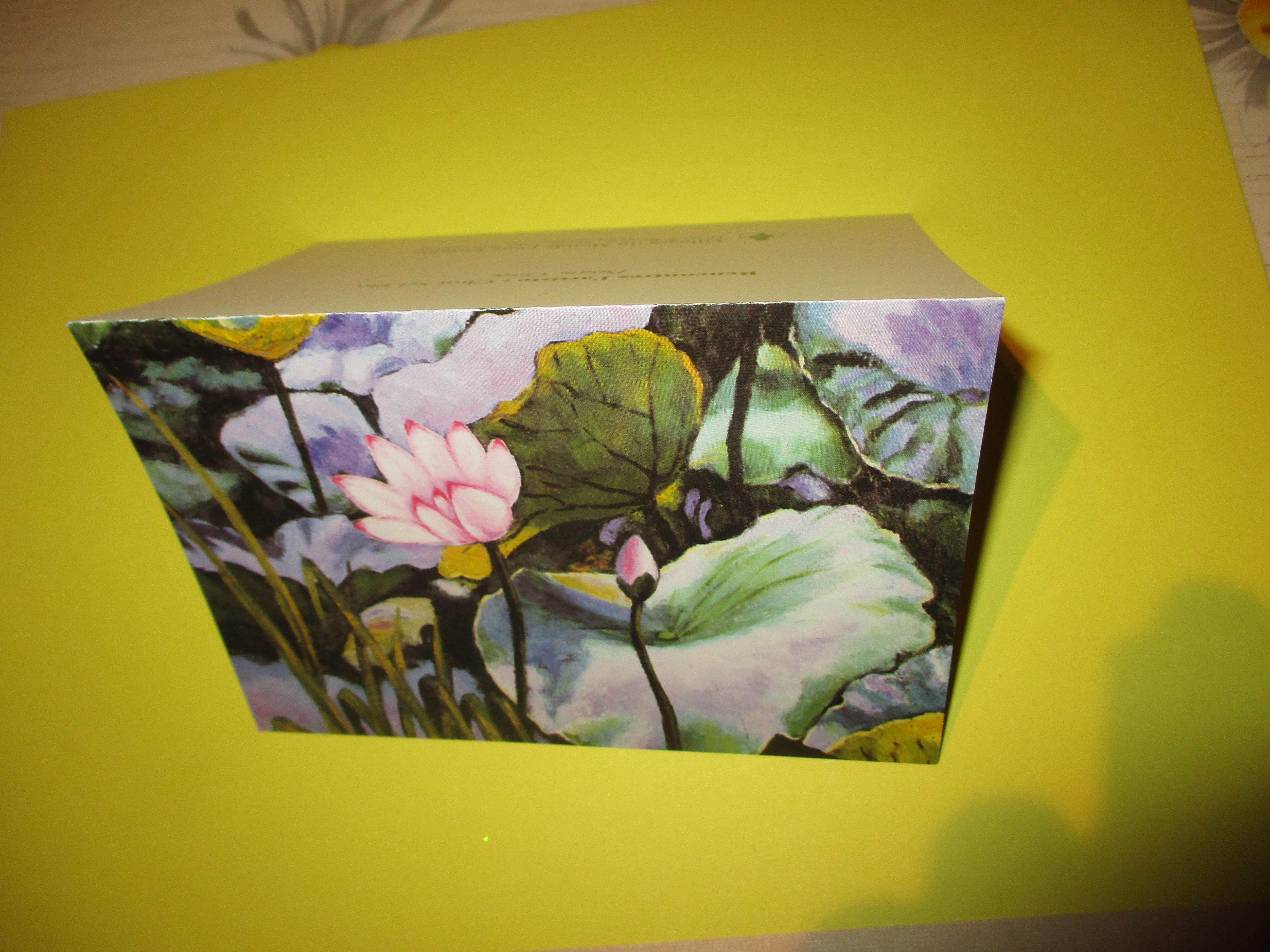 troc de troc carte avec fleur image 0